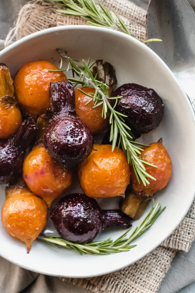 Bowl of Roasted Baby Beets