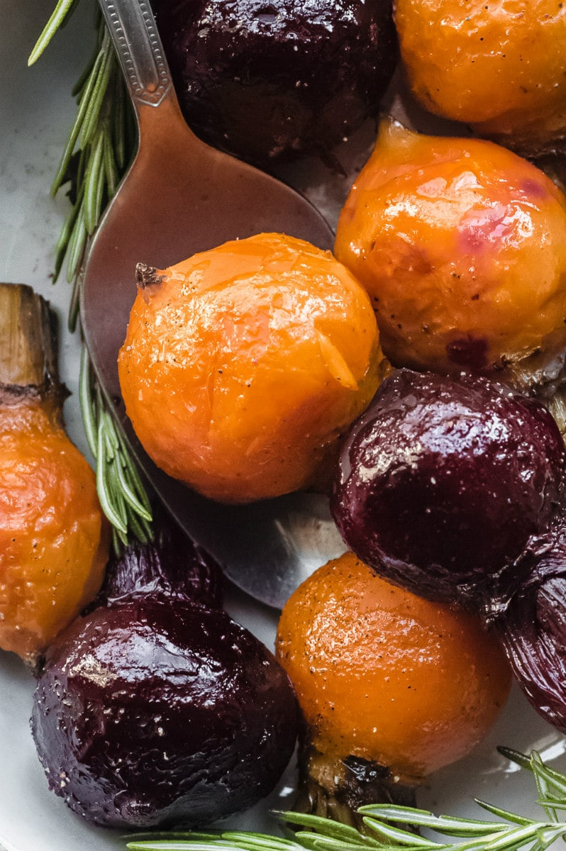 Serving Roasted Baby Beets