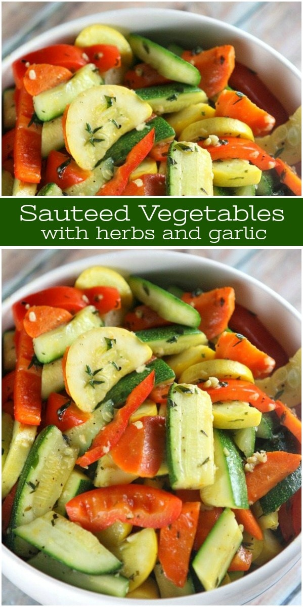 Sautéed Vegetables with Herbs and Garlic