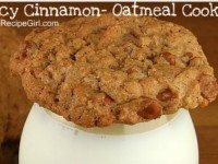 Spicy Cinnamon Oatmeal Cookies