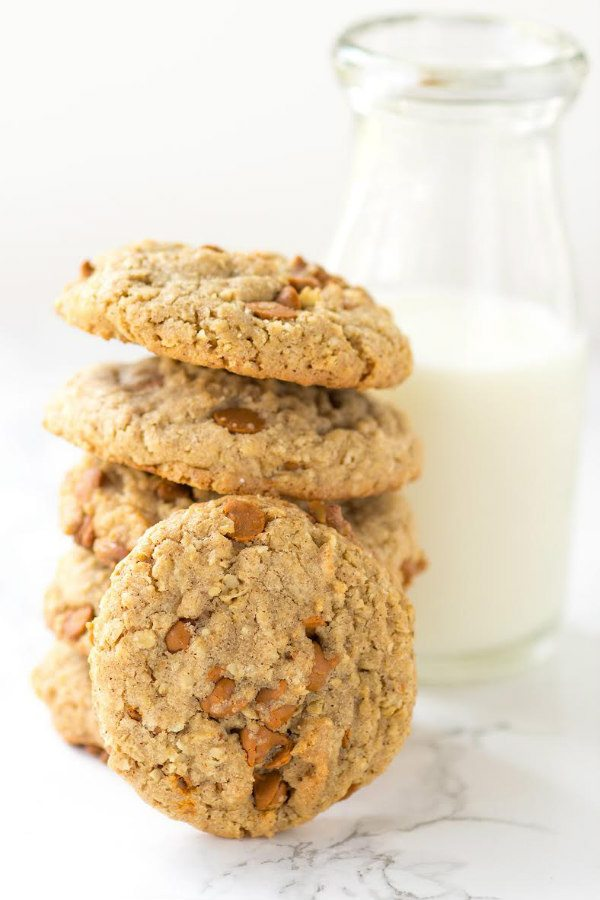 Spicy Cinnamon Oatmeal Cookies recipe - from RecipeGirl.com