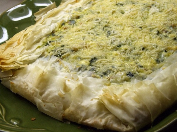 Greek recipe: Spinach, Feta and Pine Nut Phyllo Tart