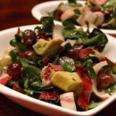 Watercress Grape Salad with Creamy Cabernet Dressing