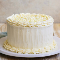 white wedding cake