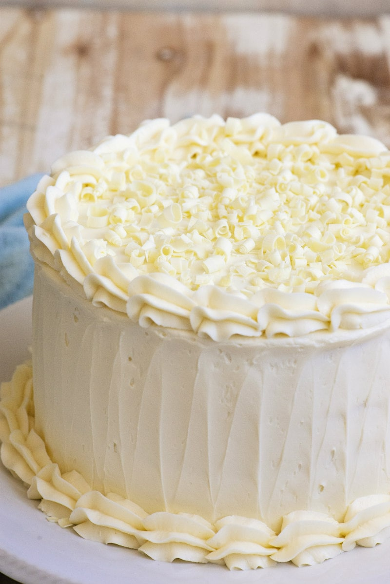 White Wedding Cake Recipe Girl