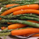 Asparagus and Carrots in Maple Butter Sauce