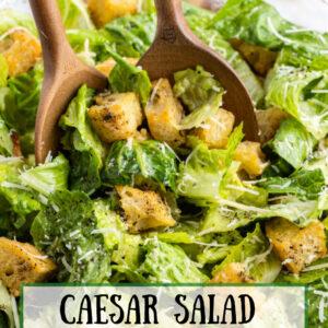 pinterest image for caesar salad