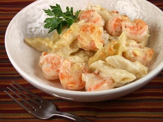 Creamy Gruyere and Shrimp Pasta