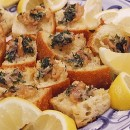 Crostini wiht Clams