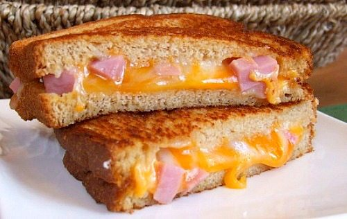 Marbled Jack and Ham Grilled Cheese