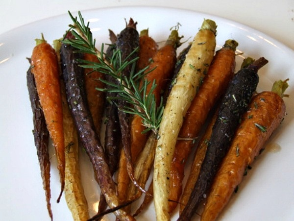 on the recipe girl blog roasting multi colored whole carrots