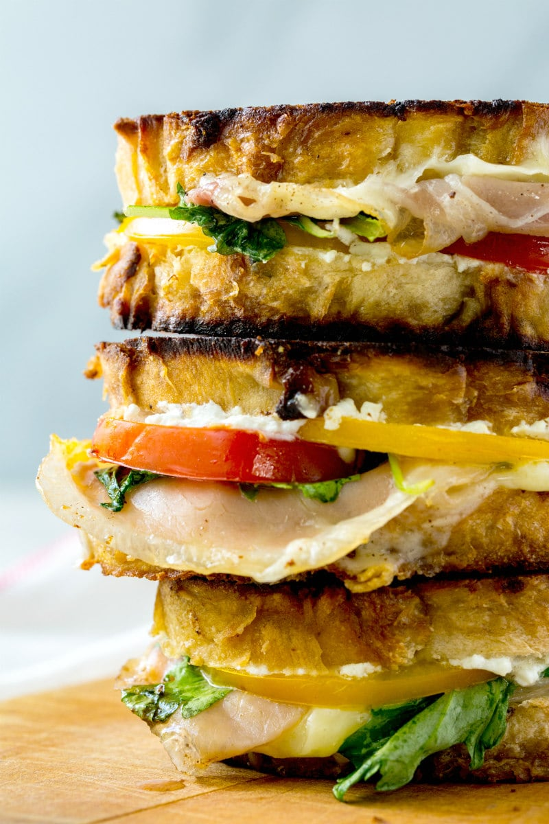 Stack of Adult Grilled Cheese