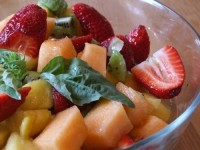 Basil Lime Fruit Salad