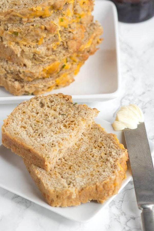Cheddar Chive Beer Bread Recipe - RecipeGirl.com