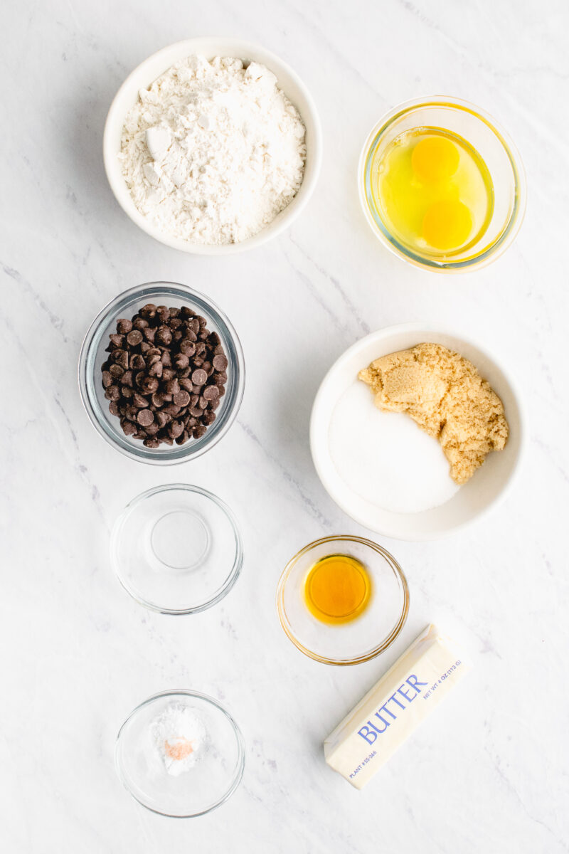 Ingredients for Hot Mint Fudge Brownie Cups