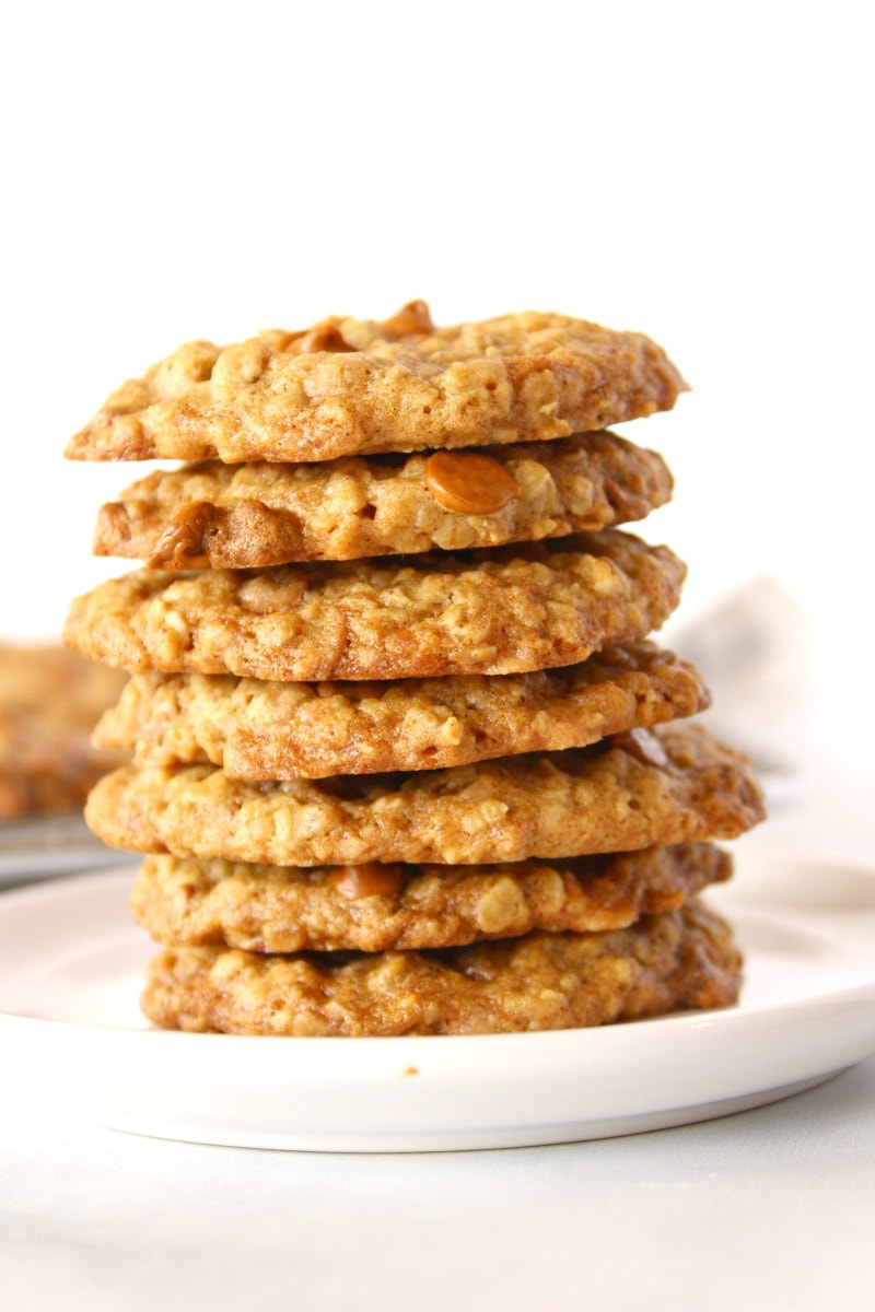 stack of loaded oatmeal cookies