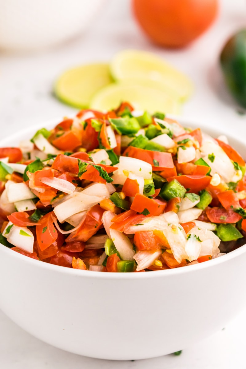 pico de gallo in a bowl