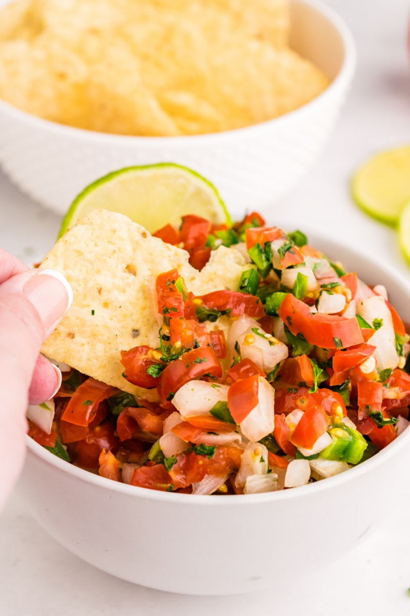 pico de gallo chips in a bowl