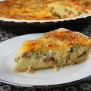 Swiss and Cheddar Quiche with Bacon 3