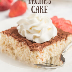 pinterest image for tres leches cake