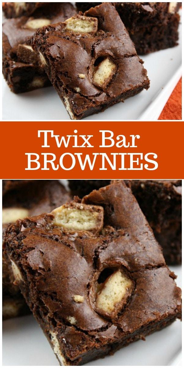 Twix Bar Brownies recipe from RecipeGirl.com #Twix #brownies #recipe