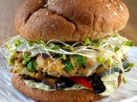 Veggie Burgers with Cilantro Mayonnaise