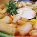 Yucca Fries with Cilantro Mayonnaise