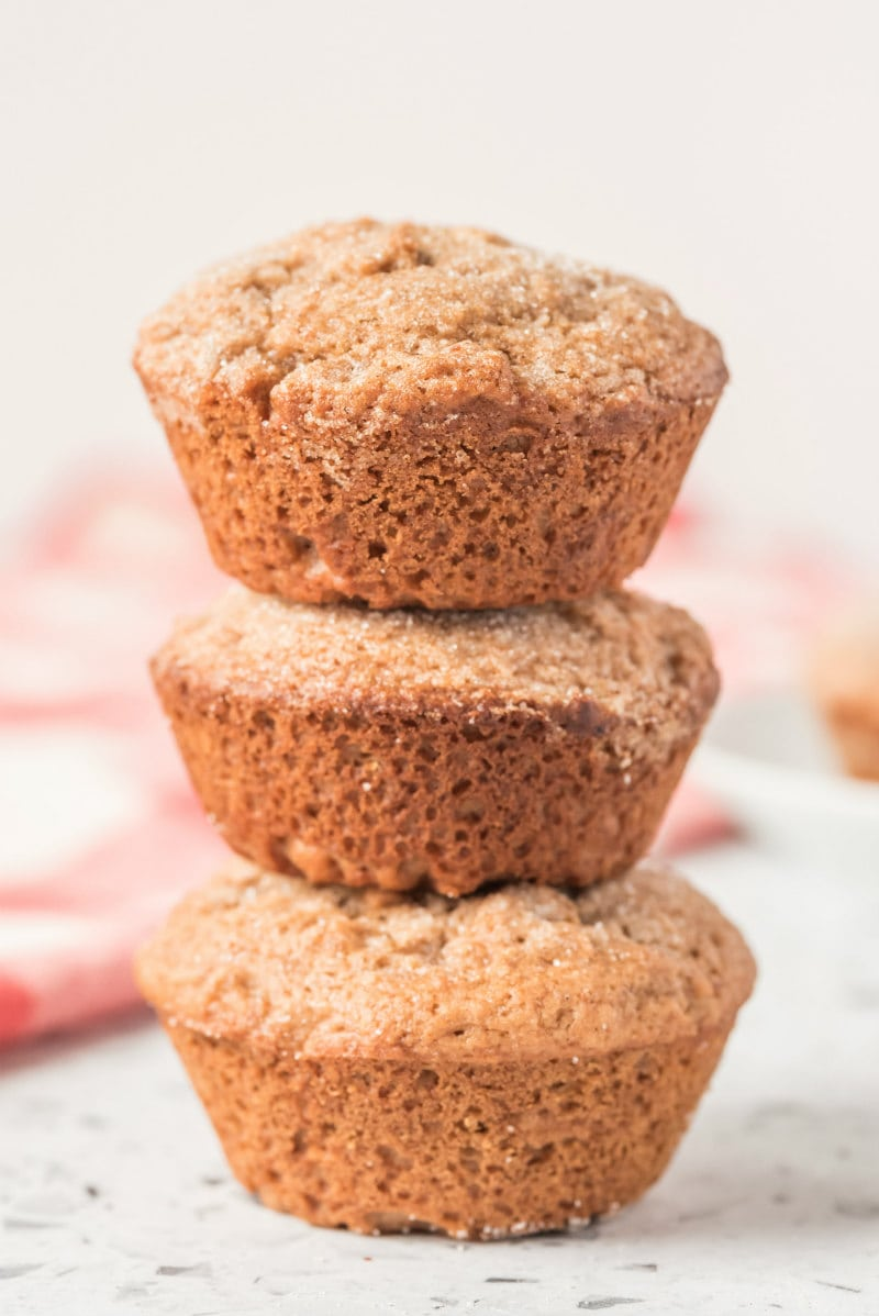 stack of three muffins