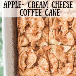pinterest image for apple cream cheese coffee cake