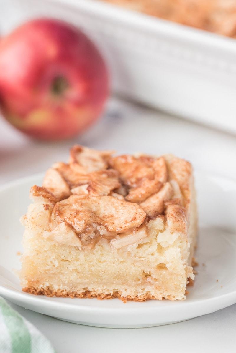 slice of apple cream cheese coffee cake