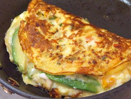 Avocado- Manchego Cheese Omelette