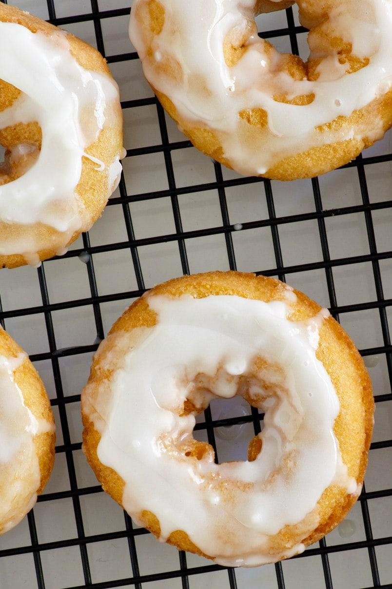 Baked Pumpkin Doughnuts with Glaze