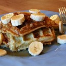 Banana Sour Cream Waffles