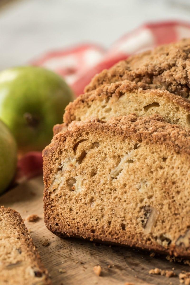 sliced dutch apple bread