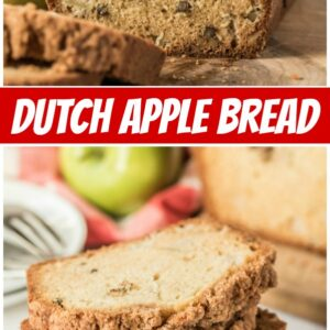 pinterest collage image for dutch apple bread