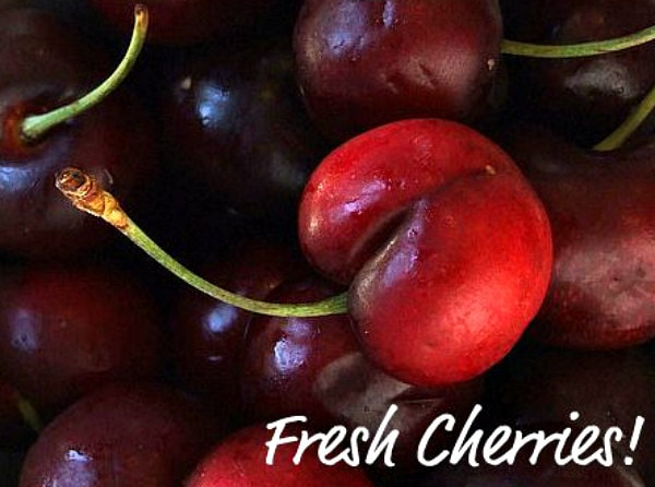 close up of a fresh cherry