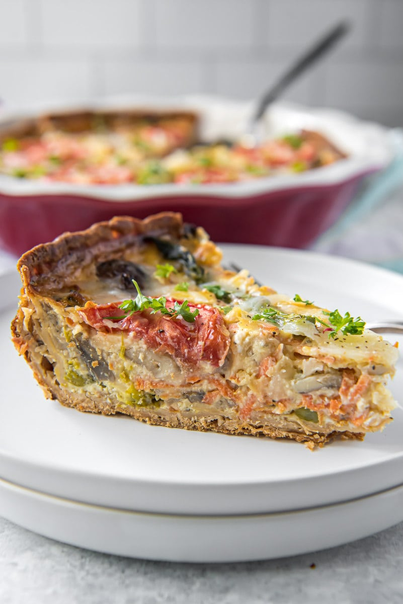Garden Vegetable Quiche Recipe Girl