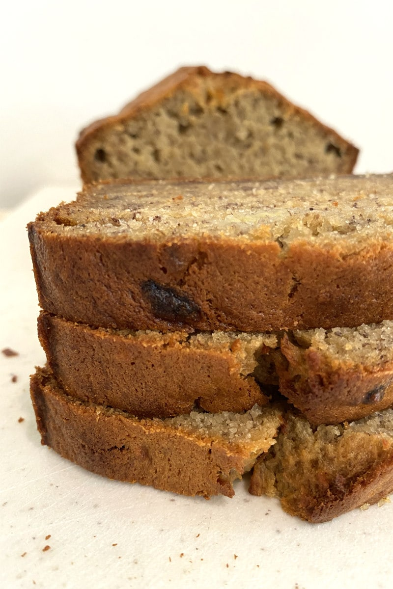 slices of In Your Face Banana Bread