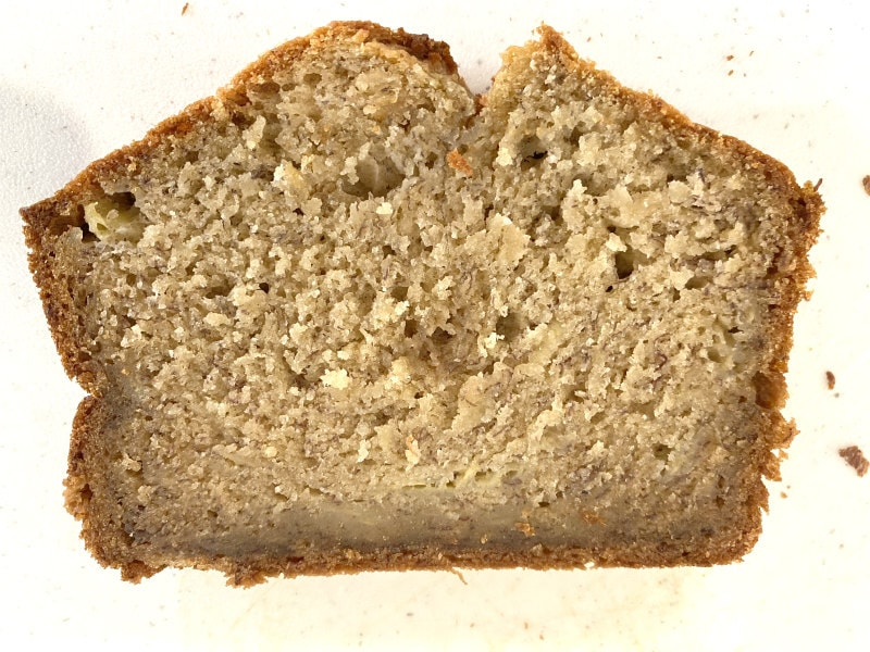 Slice of In Your Face Banana Bread