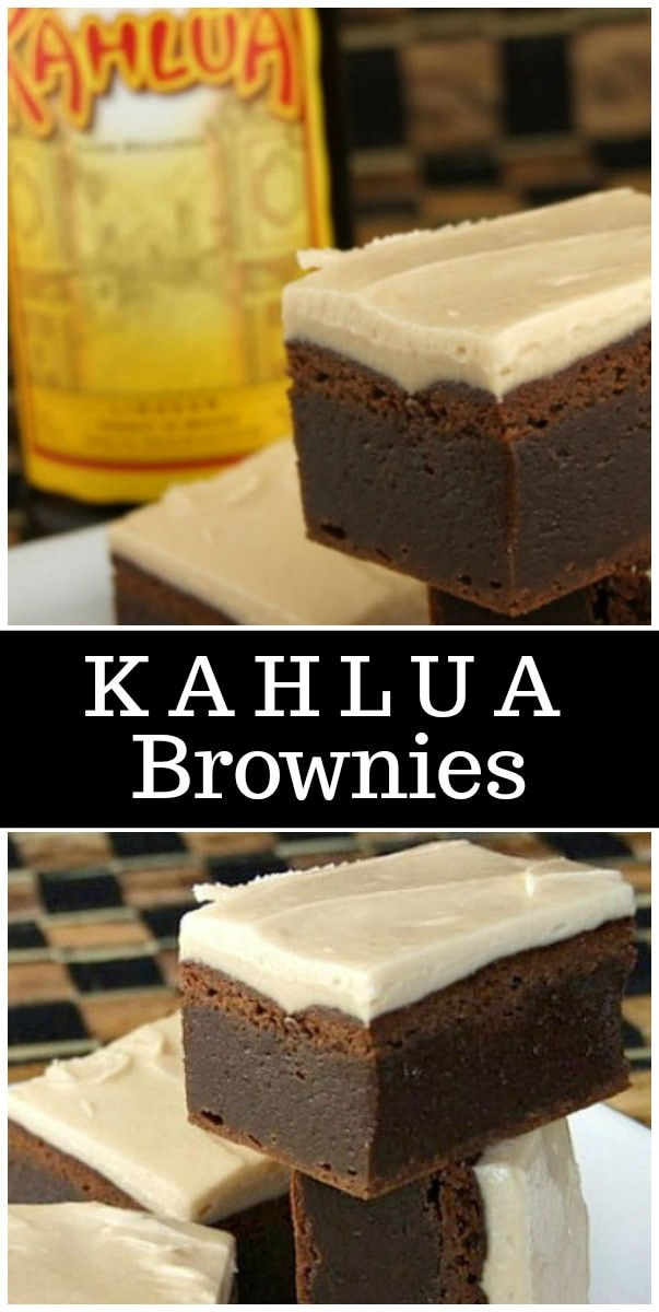 Fudgy Kahlua Brownies with Browned Butter Kahlua Icing recipe - from RecipeGirl.com #kahlua #brownies #recipe #RecipeGirl