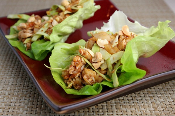 Sweet And Spicy Chicken Lettuce Wraps Recipe Girl