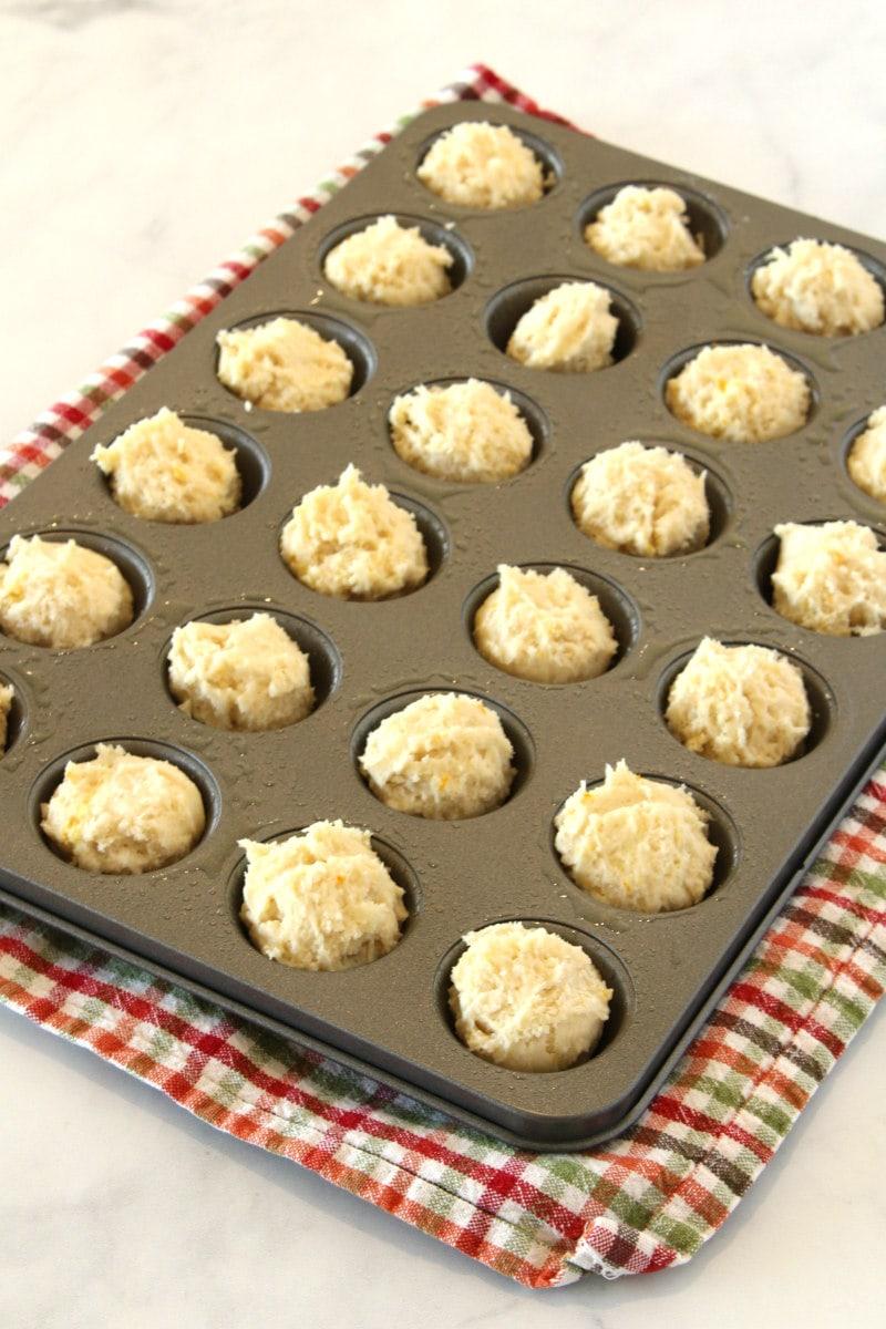 batter for orange mini muffins