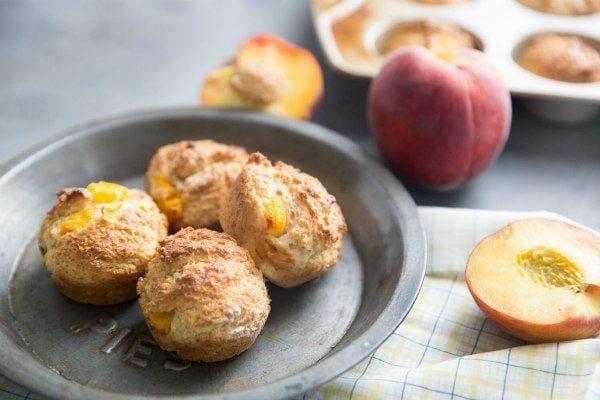 Peach and Brown Sugar Muffins recipe by RecipeGirl.com