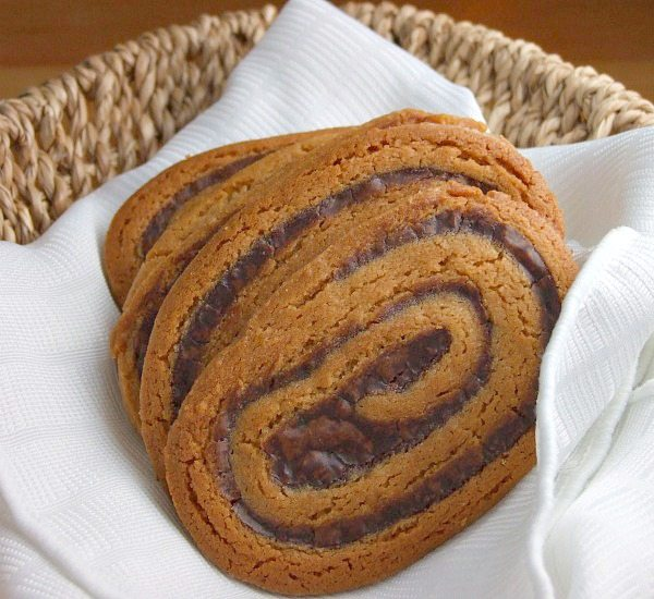 Peanut Butter Chocolate Swirl Cookies
