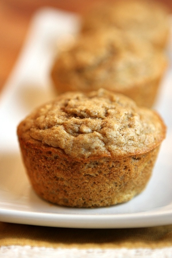 These are quick, easy, healthy and delicious Banana Oat Muffins !