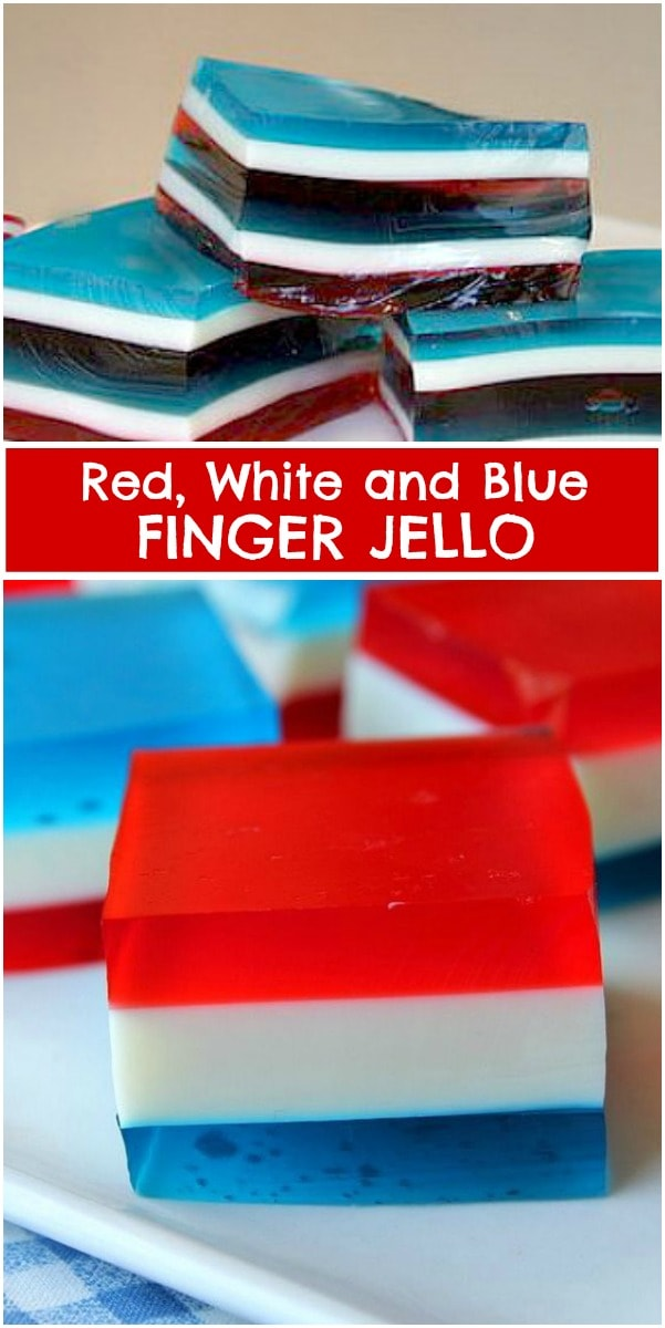 Red White and Blue Finger Jello
