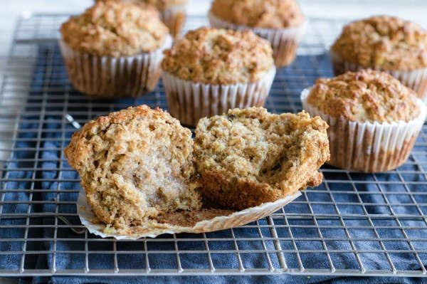 Whole Grain Banana Muffins with butter