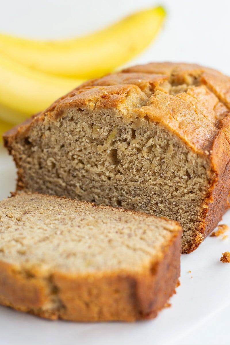 sliced Best Banana Bread