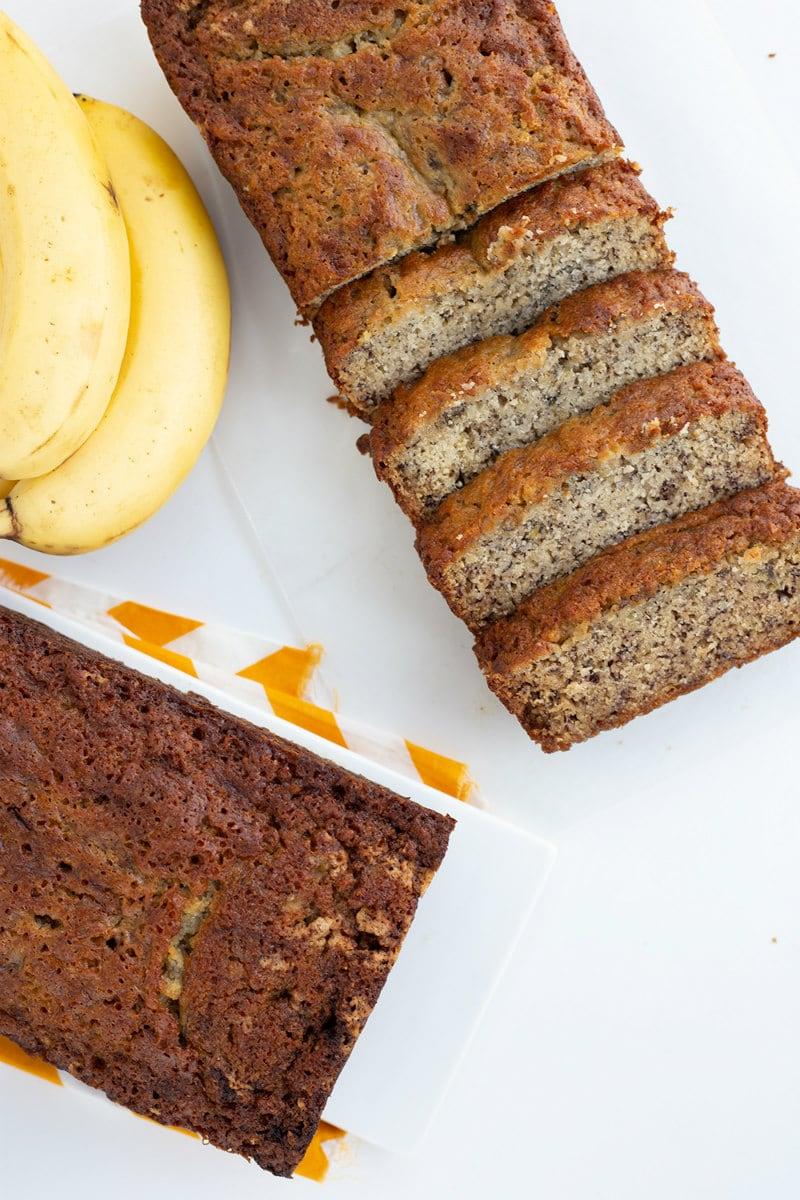 Sliced Kona Inn Banana Bread