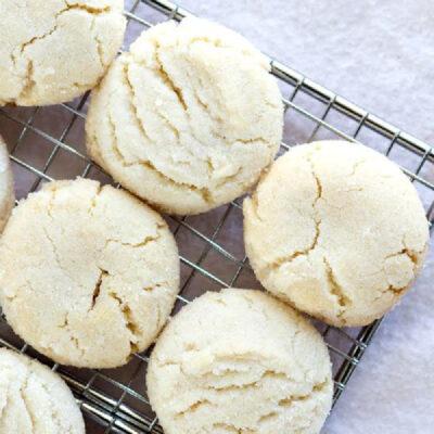 sugar cookies on cooling rack